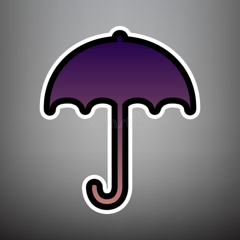 Umbrella sign icon. Rain protection symbol. Flat design style. V stock illustration