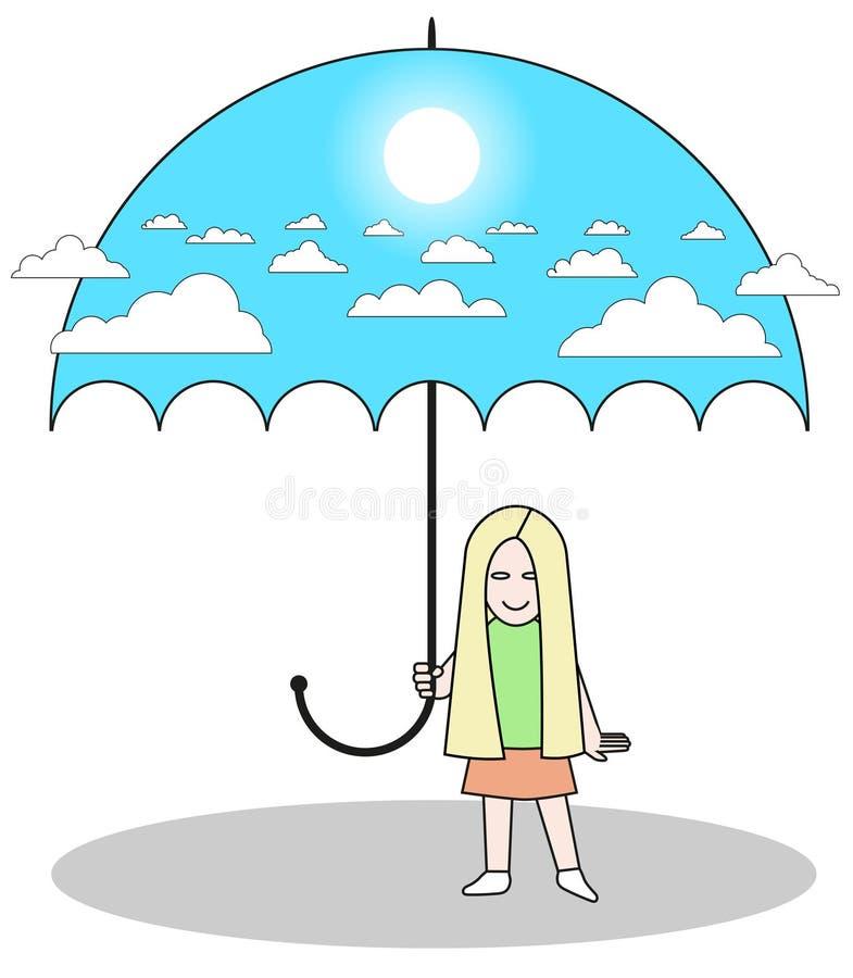 Umbrella sky stock illustration