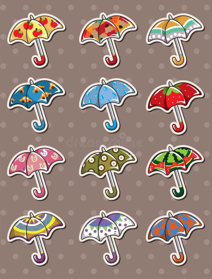 Download Umbrella stickers stock vector. Illustration of color - 24552000