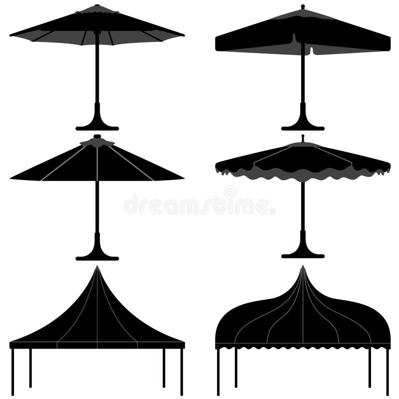 Free Umbrella Tent Gazebo Canopy Camp Silhouette Stock Photo - 20452840