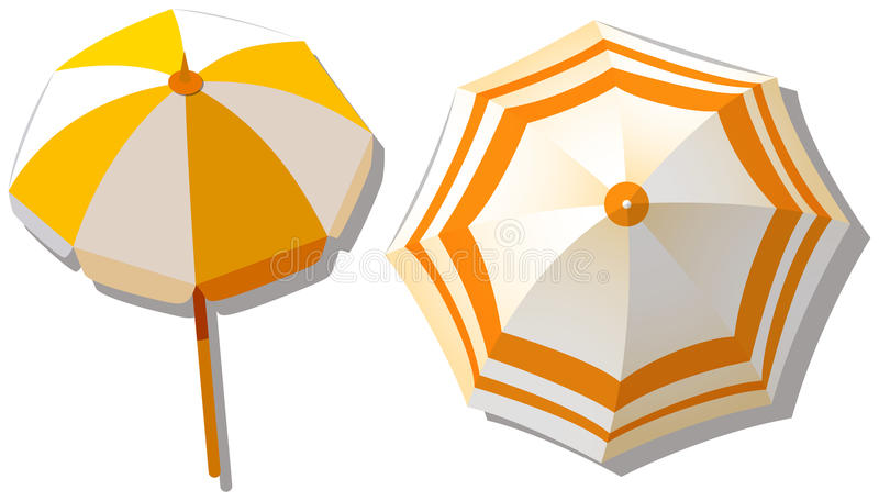 Umbrella from top view stock illustration