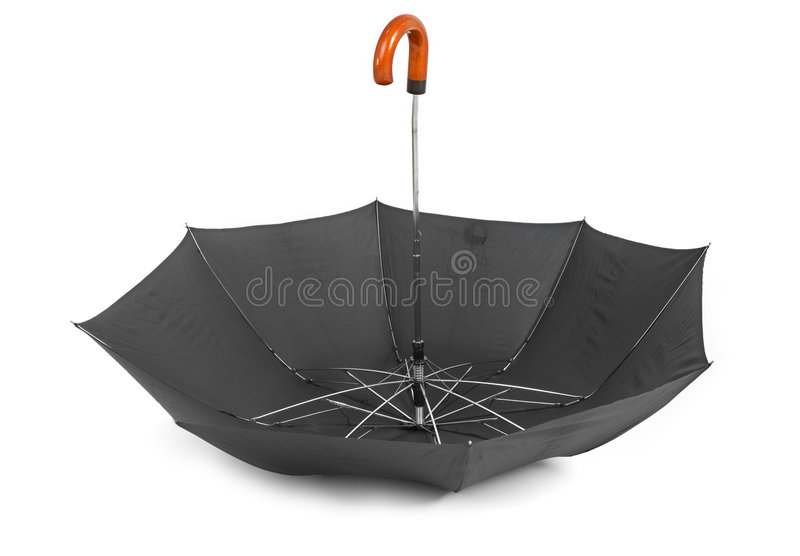 Umbrella upside down stock photo