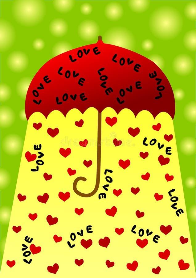 Umbrella valentines day card