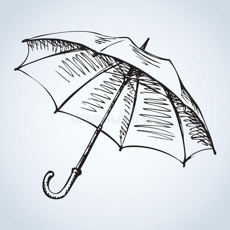 Free Umbrella. Vector Drawing Stock Images - 65684194