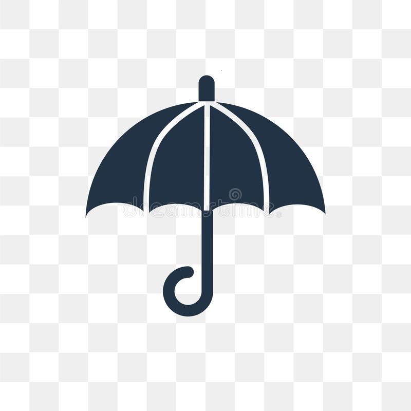 Umbrella vector icon isolated on transparent background, Umbrella transparency concept can be used web and mobile royalty free illustration
