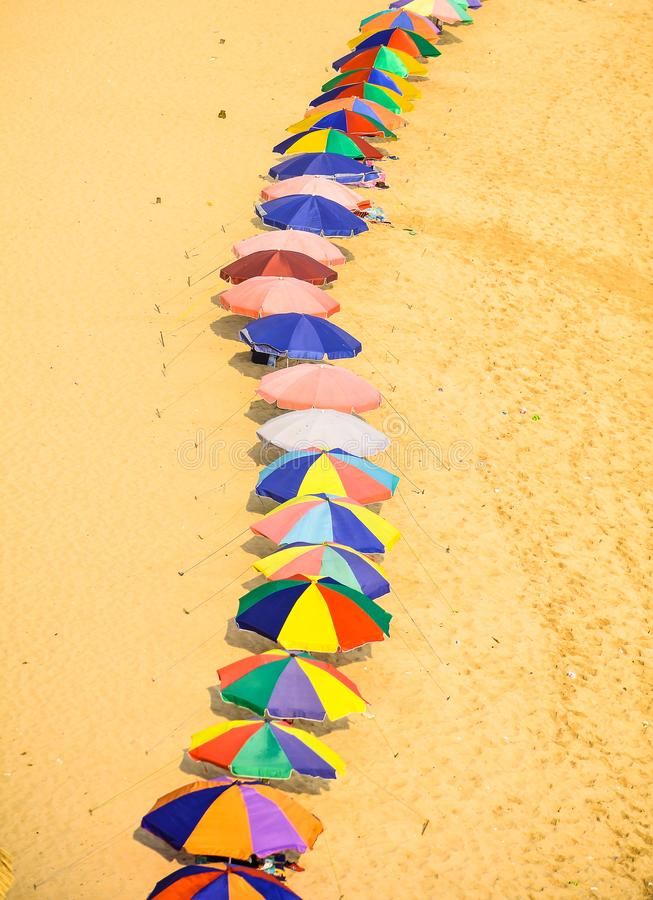 Umbrella view from top royalty free stock photos