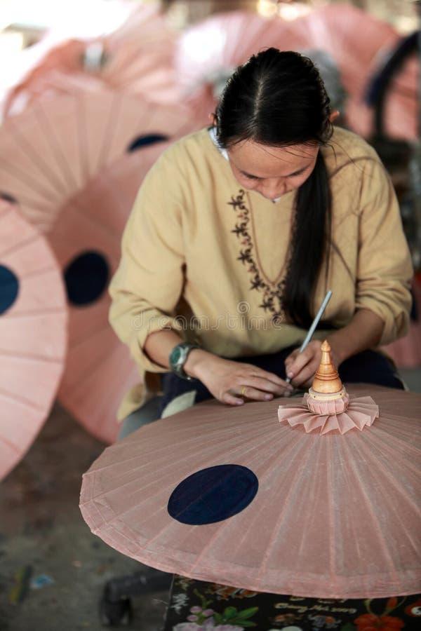 Umbrella Village,Thailand royalty free stock photo