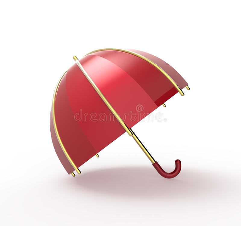Umbrella on a white background. 3D illustration stock illustration