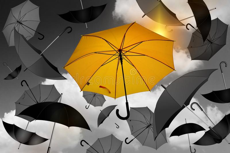 Umbrella, Yellow, Fashion Accessory, Design stock images