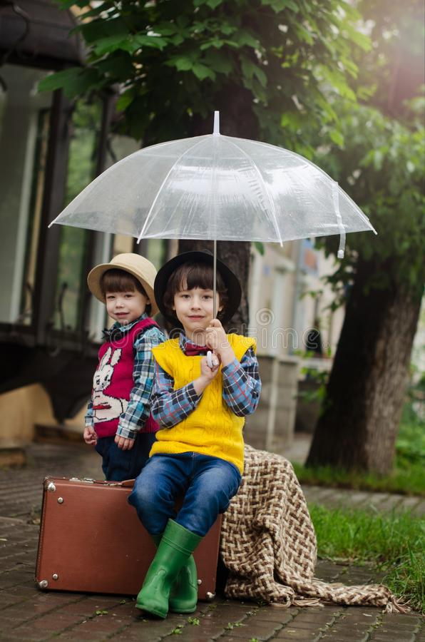 Umbrella, Yellow, Sitting, Snapshot stock photos