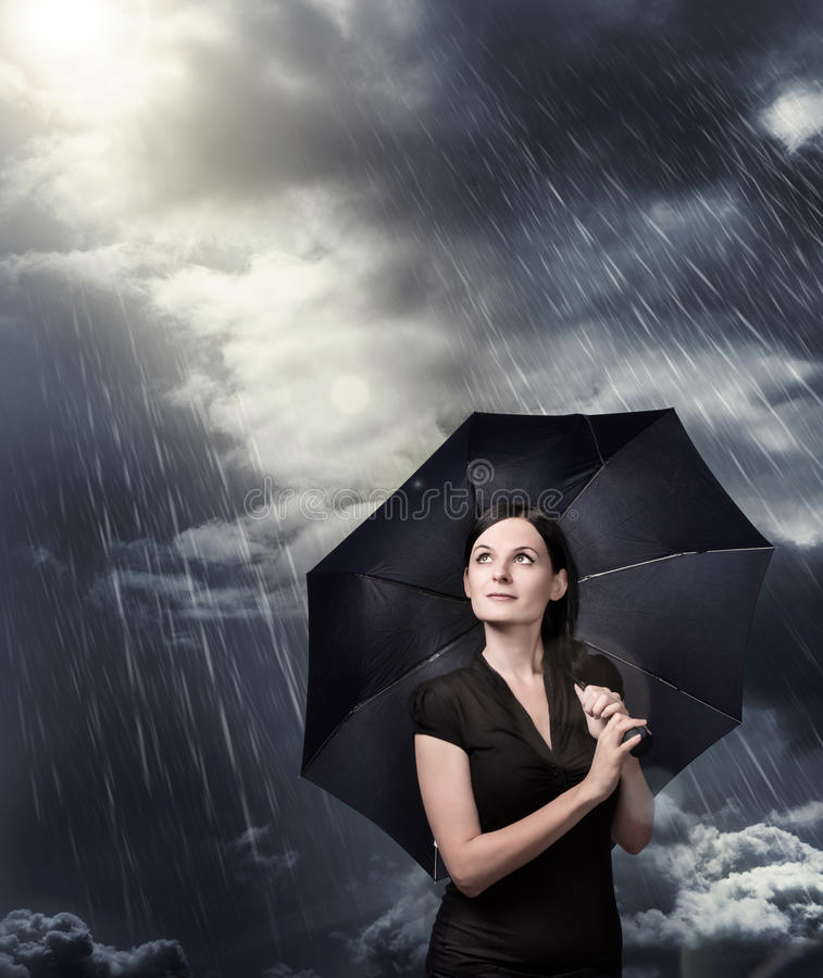 Download Umbrella stock photo. Image of cold, spring, girl, vision - 32669368