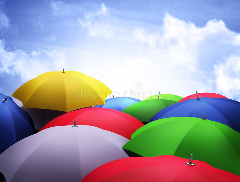 Umbrellas stock illustration