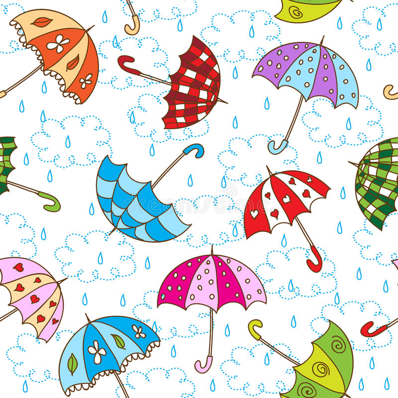 Umbrellas vector illustration