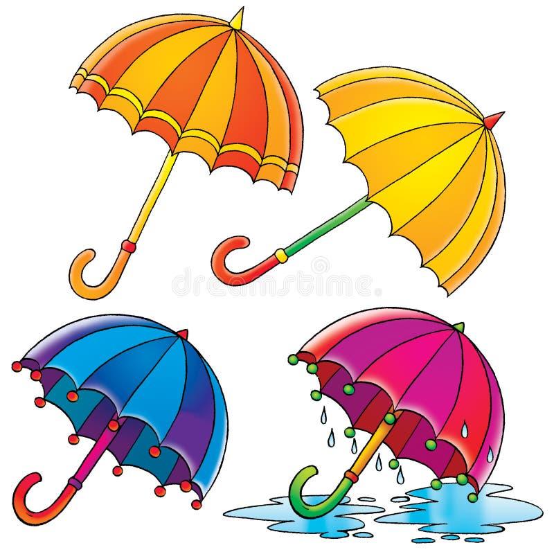 Umbrellas stock illustration