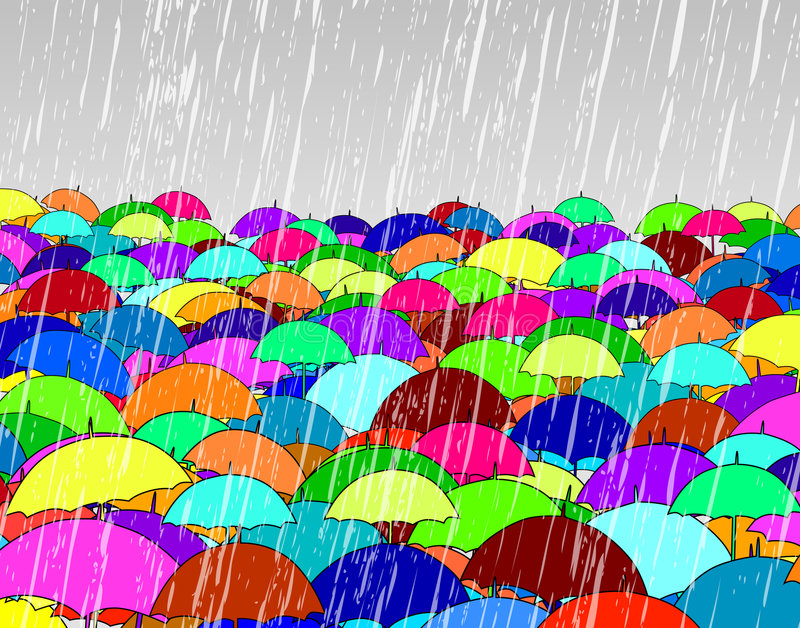 Download Umbrellas stock vector. Image of illustration, soaking - 4492095