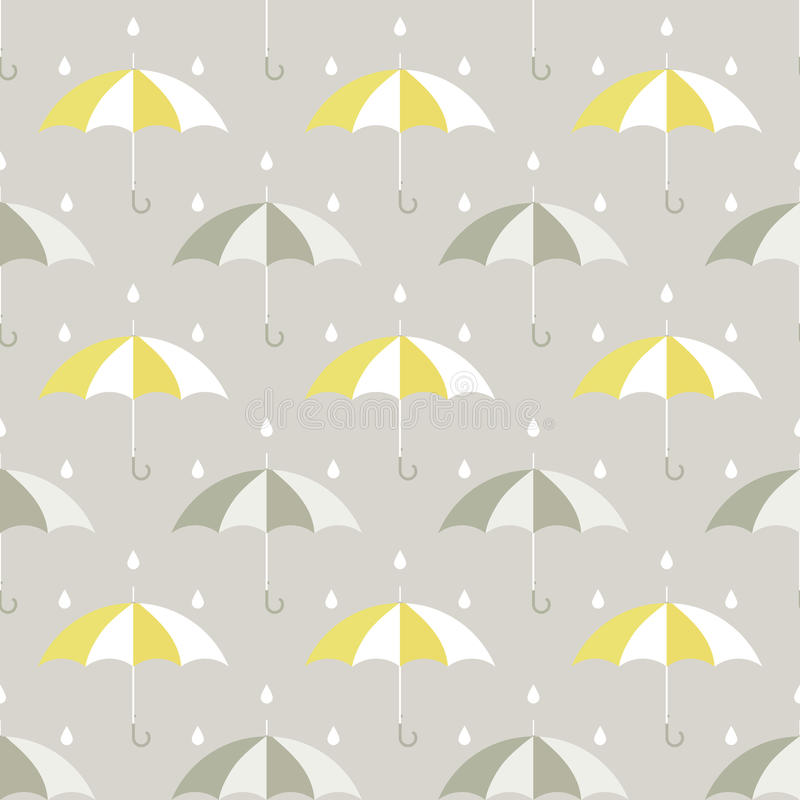 Free Umbrellas And Drops Pattern Royalty Free Stock Image - 50881756