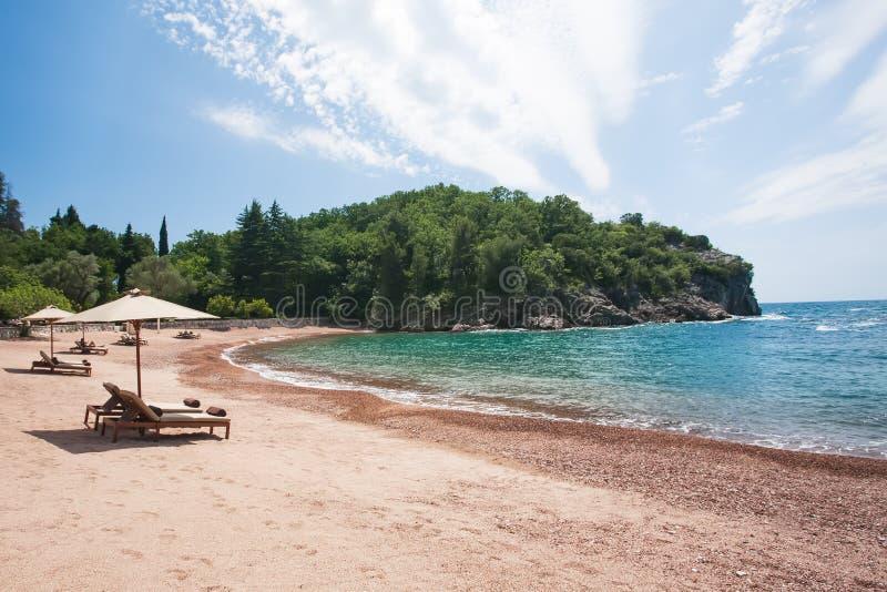 Download Umbrellas on the beach stock photo. Image of sand, horizon - 26253216