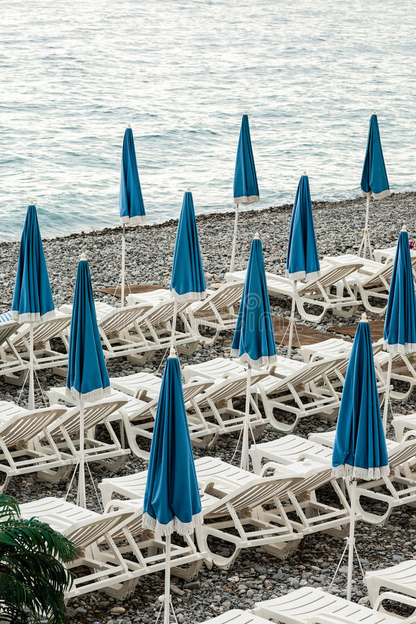 Download Umbrellas On The Coast Of France Stock Image - Image: 25863685