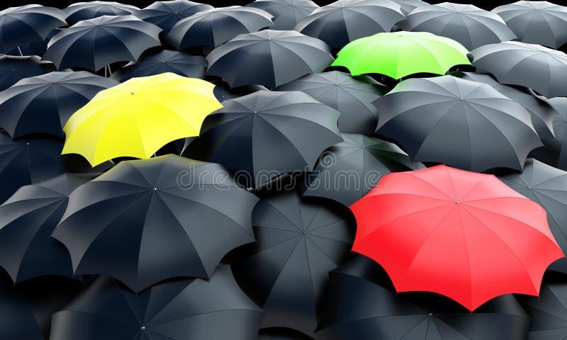 Umbrellas_field illustrazione di stock