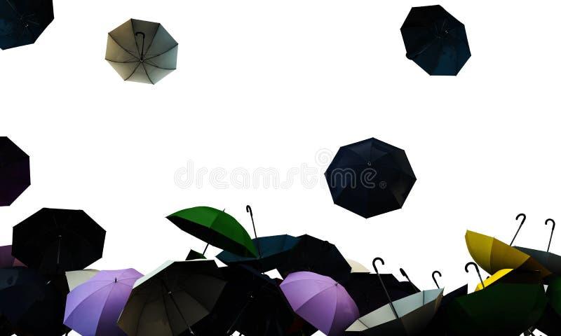 Umbrellas. Open umbrellas isolated on white background royalty free illustration