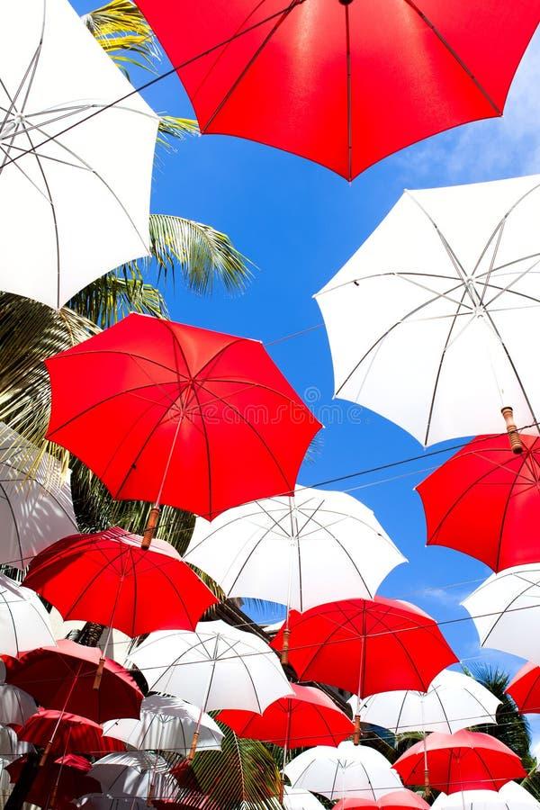 Download Umbrellas Over Sky Background Stock Photo - Image: 39522723