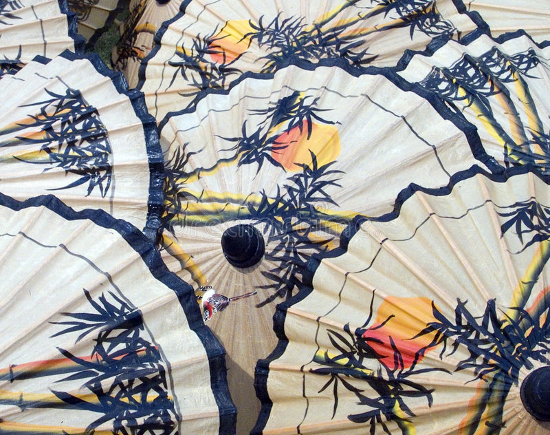 Umbrellas patern royalty free stock photography