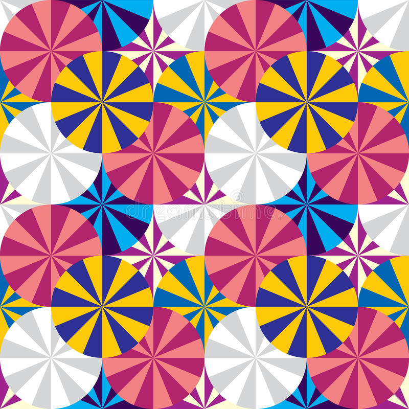 Umbrellas seamless pattern. royalty free illustration