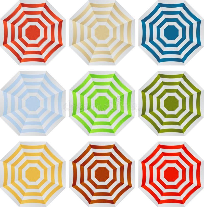 Umbrellas set. Vector set of colorful umbrellas stock illustration