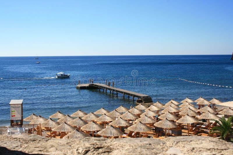 Montenegro beach scene royalty free stock photos