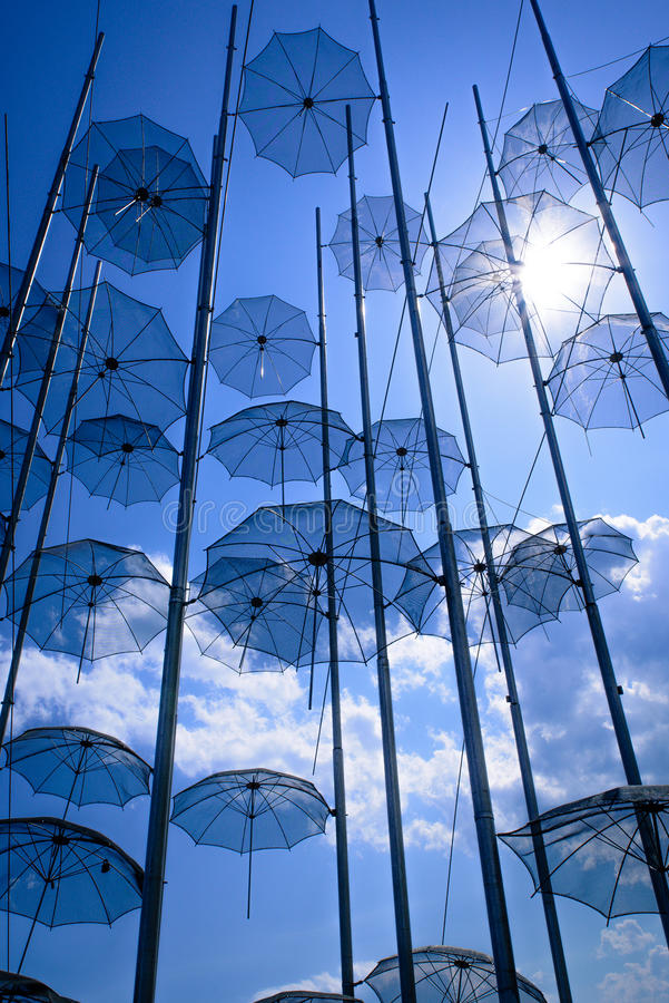 Umbrellas undre the sun royalty free stock photos