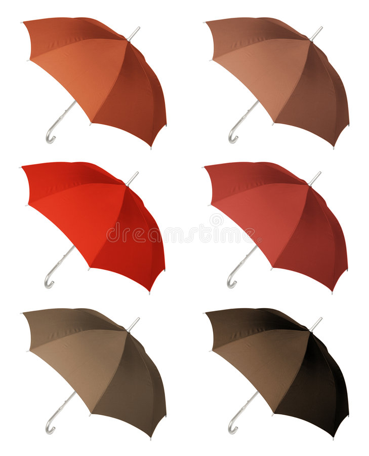 UmbrellaThree Royalty Free Stock Photos