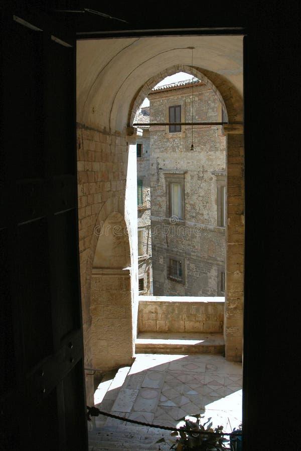 Umbrië castels stock afbeeldingen