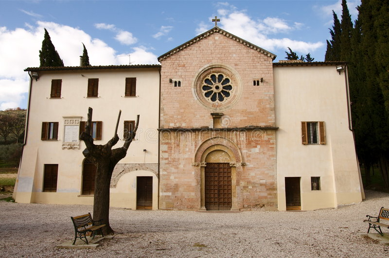 Umbria church royalty free stock photography