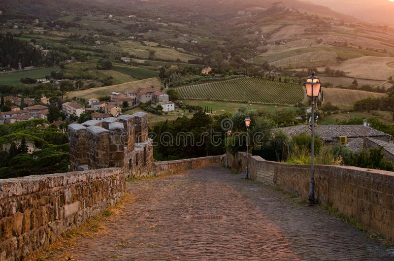 Umbria by sunset royalty free stock photo