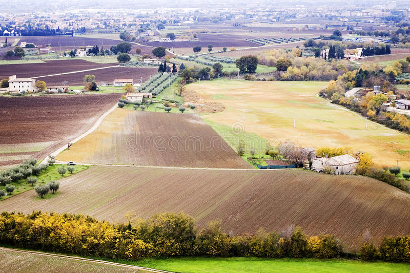 Umbrian landscape in autumn royalty free stock image