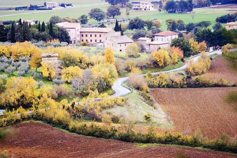 Umbrian landscape in autumn stock image