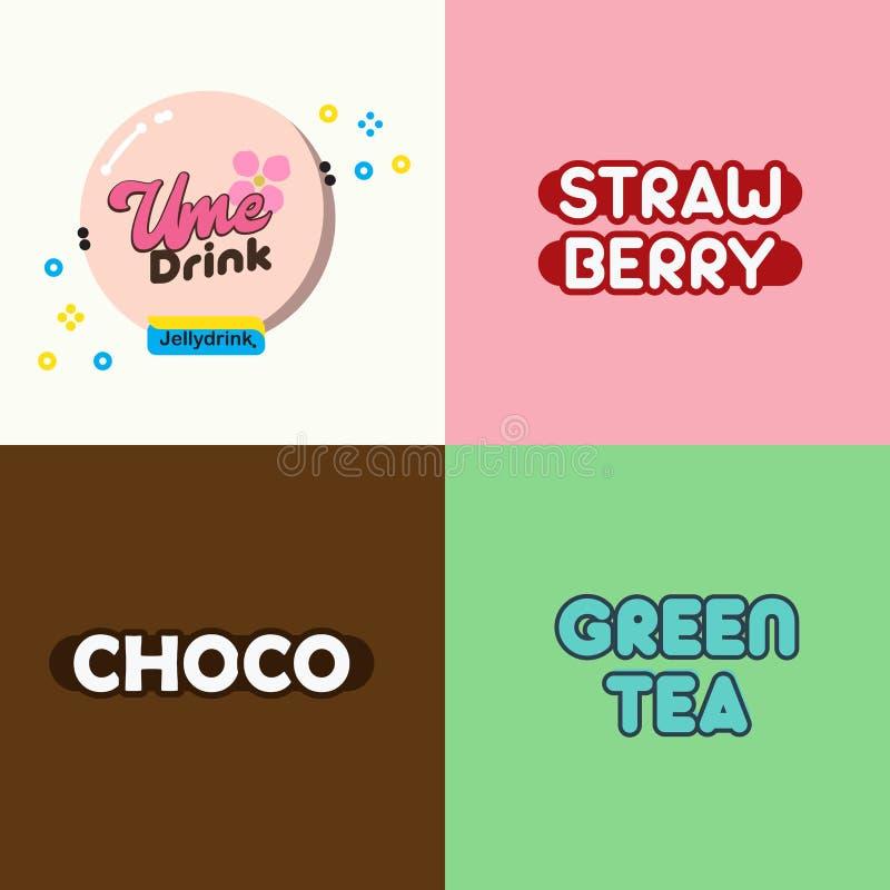 Ume Drink vector illustration