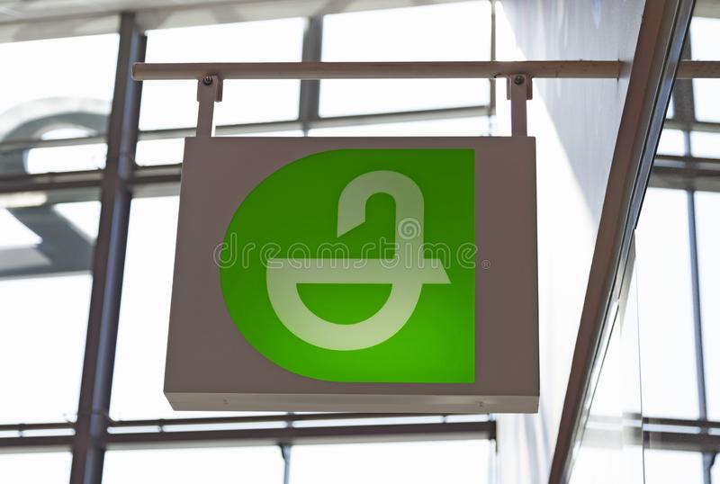Pharmacy sign at the mall Avion royalty free stock photography