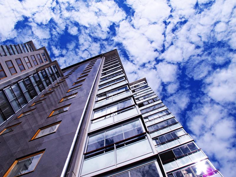 New high-rise building with condominiums royalty free stock photo