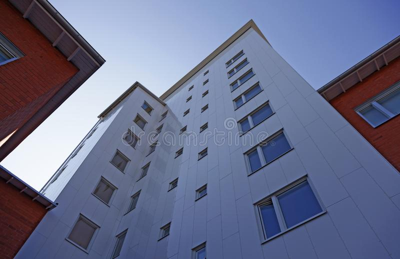 Newly built high-rise building on Haga royalty free stock photos