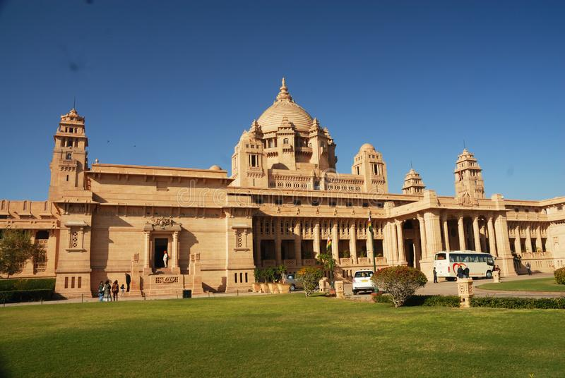 Umed Bhawan i Jodhpur, Rajasthan, Indien royaltyfria foton