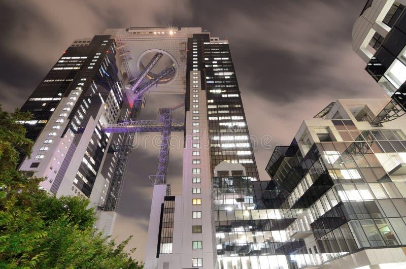 Umeda Skybyggnad i Osaka, Japan arkivfoto