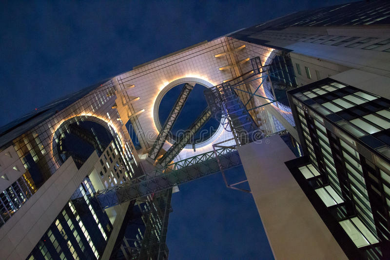 Umeda Skybyggnad i Osaka, Japan royaltyfri foto