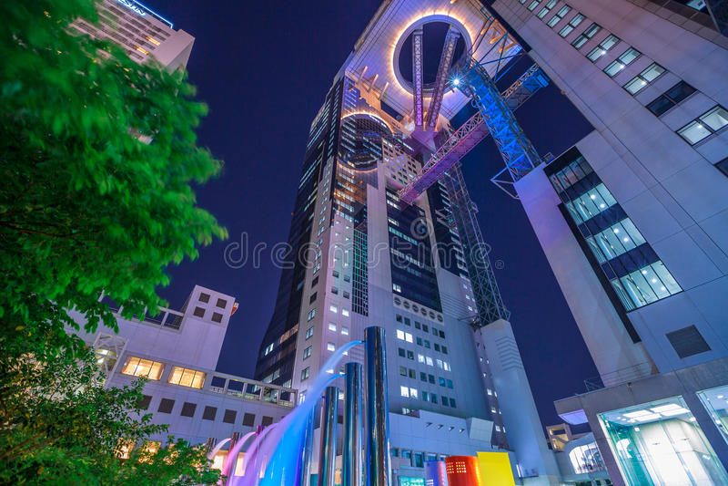 Umedahemel die Osaka bouwen royalty-vrije stock foto