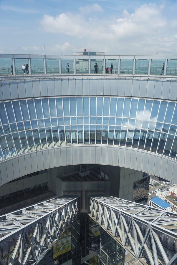 Umedahemel Waarnemingscentrum van de de Bouw het Drijvende Tuin in de stad van Osaka, Japan stock foto's
