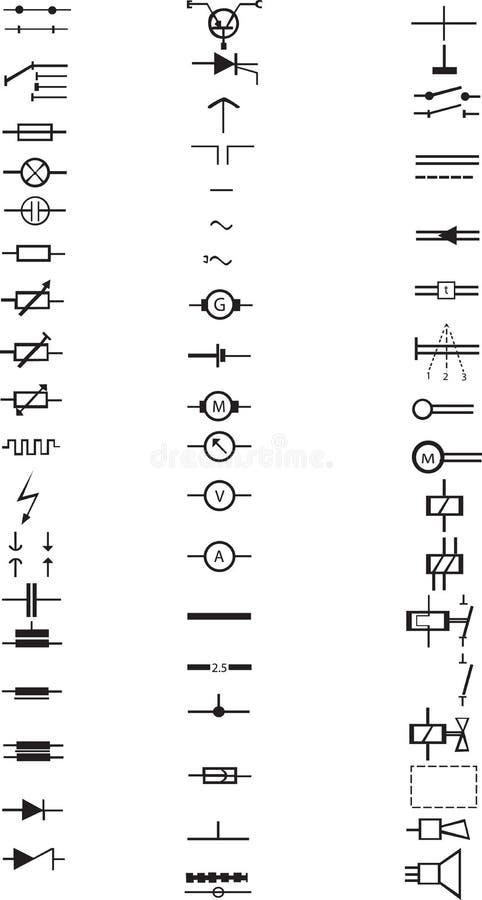 Ausgezeichnet Liste Aller Elektrischen Symbole Zeitgenössisch ...