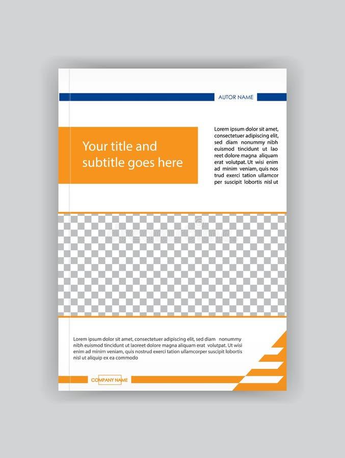Umfassen Sie Designbroschürenschablone, Buch, Zeitschrift, Flieger, Fahne, Br lizenzfreie abbildung