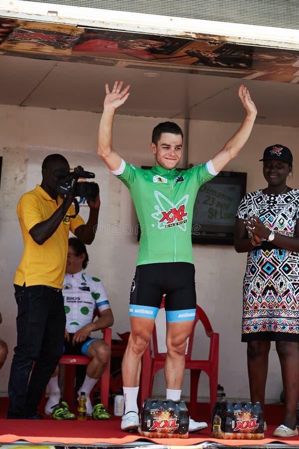 Umfassen Sie die Welt, die am Ausflug DU Senegal 2017 radfährt lizenzfreies stockfoto