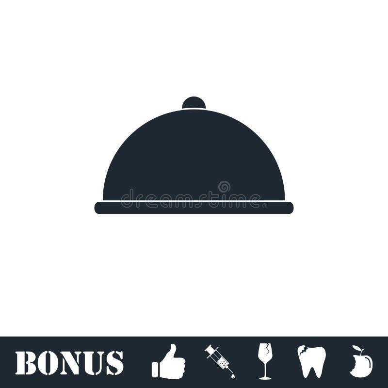 Umfasste Nahrungsmittelikone flach lizenzfreie abbildung