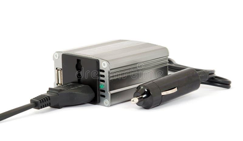 Umformer 12v zu 220v lizenzfreies stockbild